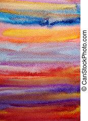 én, művészet, alkotott, festett, kéz, vízfestmény, fényes, háttér, scrapbooking, tervezés