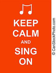 énekel, csendes, tart