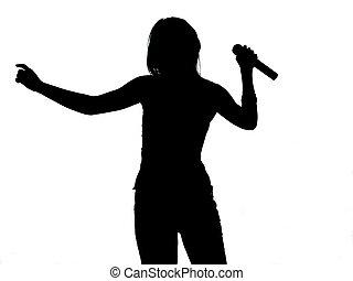 énekes, árnykép