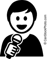 énekes, hím, karikatúra