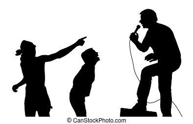 énekes, rajongó