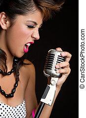 éneklés, leány