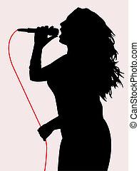 éneklés, női