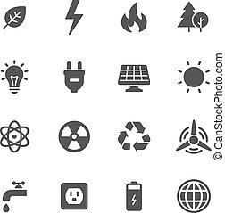 énergie, écologie, icônes