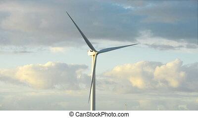 énergie, aile, puissance, turbine