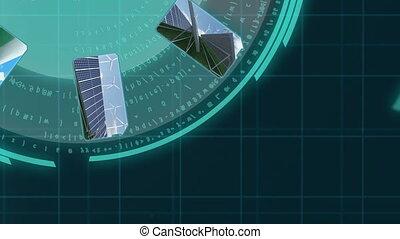 énergie, animation, renouvelable, 3d