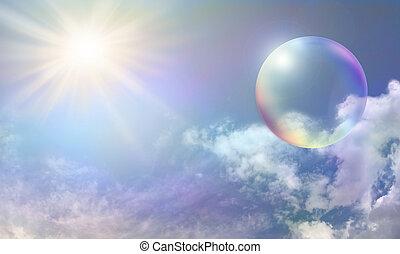 énergie, bulle, solaire