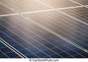 énergie, cellule, propre, solaire
