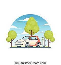 énergie, concept, écologique, propre