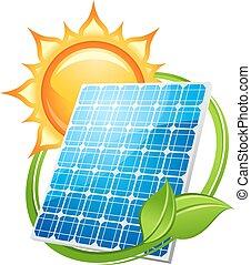énergie, concept, énergie solaire