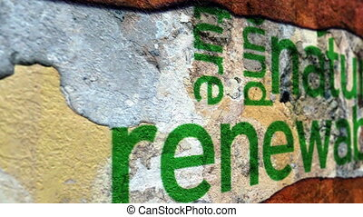 énergie, concept, grunge, renouvelable, nature