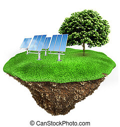 énergie, concept, vert, 3d