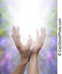 énergie, divin, mains curatives