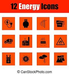 énergie, ensemble, icône