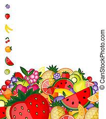 énergie, fruit, conception, ton, fond