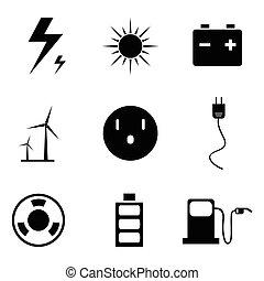 énergie, icônes