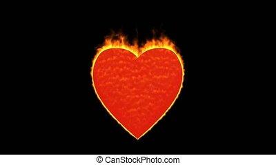 énergie, jour, coeur, valentine