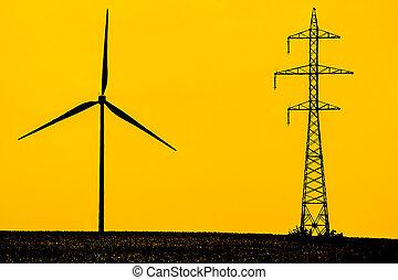 énergie, moderne