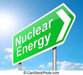 énergie nucléaire, concept.