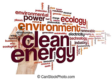 énergie propre, mot, nuage