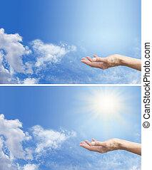 énergie, sentir, solaire