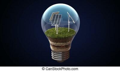 énergie, solaire, ampoule, marques, électrique