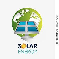 énergie, solaire, design.