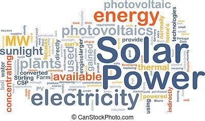 énergie solaire, fond, concept