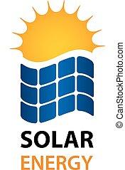 énergie, symbole, solaire