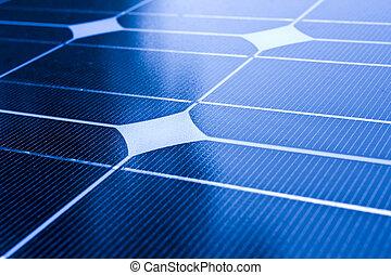 énergie, themes., closeup, solaire, alternative, panneaux