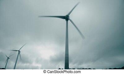 énergie, trois, production, opération, soutenable, vent, generators.