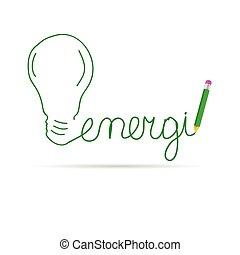 énergie, vert, vecteur