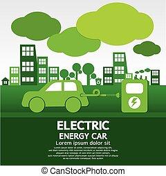 énergie, voiture., électrique