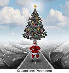énfasis, navidad, guía