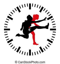 énfasis, pico, tiempo