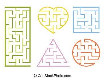 énigme, page., ensemble, couleur, puzzle, sheet., children...