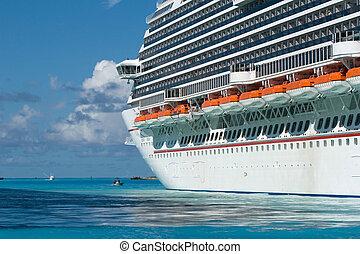 énorme, croisière bateau, océan