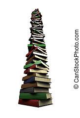 énorme, livres, pile
