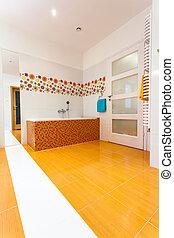 énorme, salle bains, à, contemporain, maison