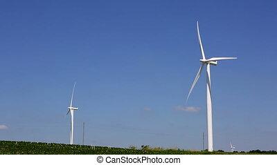 éolienne, alternative, ener, renouvelable