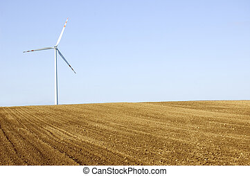 éolienne, conceptuel, image.