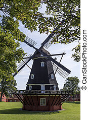 éolienne, danemark, copenhague, -, kastellet