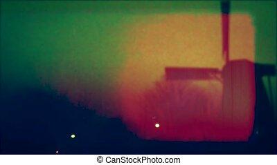 éolienne, holland., vieux, 8mm, granulation, grattements, grunge, poussière, netherlands., bobine, pellicule