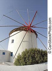 éolienne, iles grecques