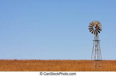 éolienne, plaines