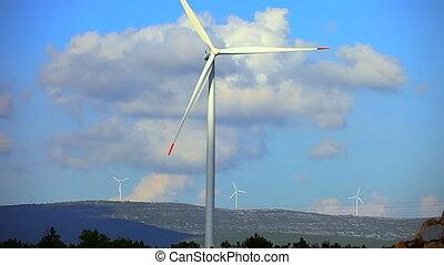 éoliennes, électrique, renouvelable