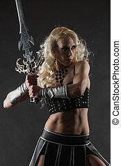 épée, femme