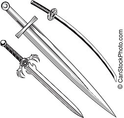 épées, trois