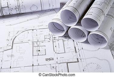 építészet, alaprajzok
