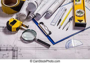 építészet, eszközök